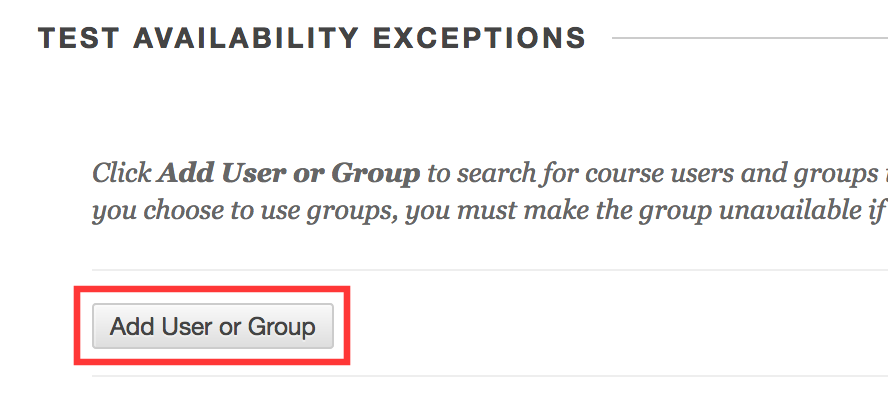 Add User or Group button