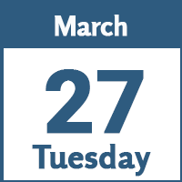 Tuesday March 27