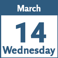 Wednesday March 14