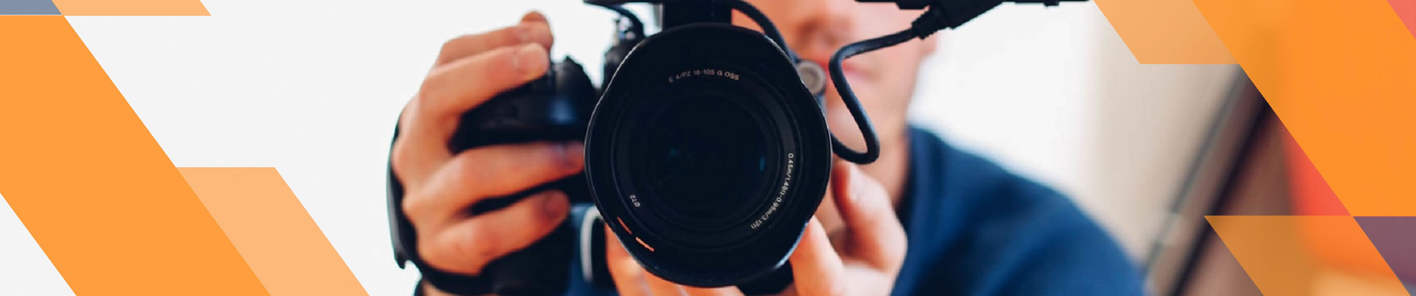 person with a video camera
