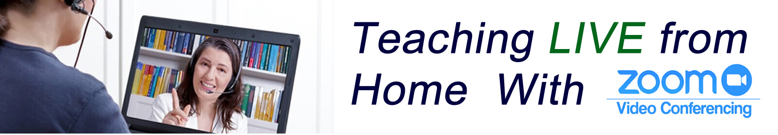Teaching from home banner